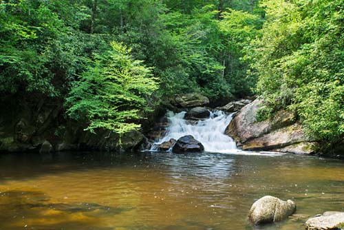 lower Dennis Cove Falls - Cherokee National Forest