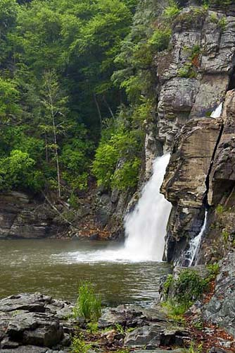 Linville Falls - Plunge Basin view