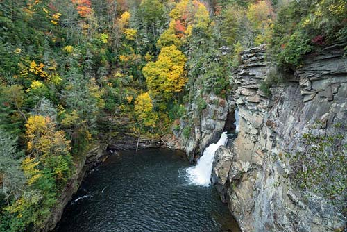 Linville Falls - Plunge Basin Overlook