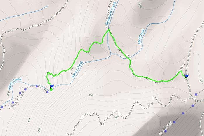 Pinnacle Falls Pickens County South Carolina Camp Hannon - Sc waterfalls map