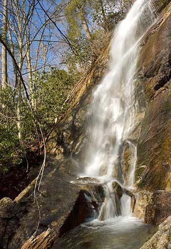 Poundingmill Branch Falls - Pisgah National Foresst