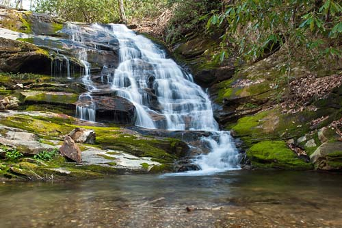 Red Rock Falls - Courthouse Creek, Pisgah National Forest