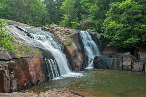 Twin Falls, Toxaway River - Gorges State Park