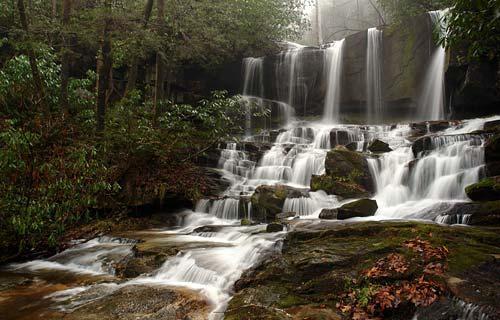 South Carolina Waterfalls - Sc waterfalls map