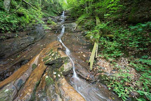 waterfall on Wolf Creek - Chimney Rock State Park