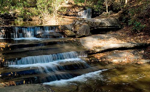 Waterfalls In Table Rock State Park